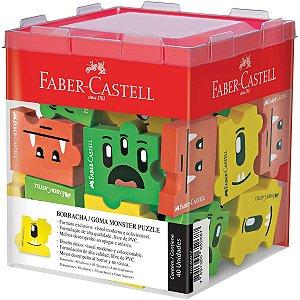 Borracha Decorada Monster Puzzle 3Modelos Sort. Faber-Castell