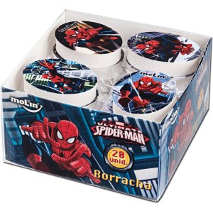 Borracha Decorada Spider-Man Sortidas Molin