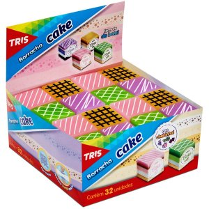 Borracha Decorada Tris Cake C/cheiro/4Cores Sort Summit