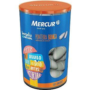 Borracha Ponteira Branca 100 P/Lápis Mercur