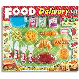 Brincando De Casinha Food Delivery Lanches Velcro Braskit