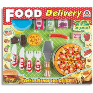 Brincando De Casinha Food Delivery Pizza Velcro Braskit