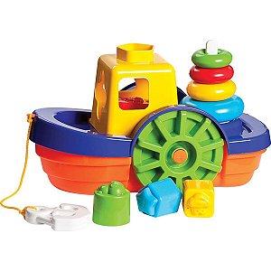 Brinquedo Educativo Barco Didático C/blocos E Anco Merco Toys