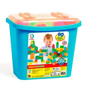 Brinquedo Educativo Blocks Box 90Pcs Menino Cardoso Toys