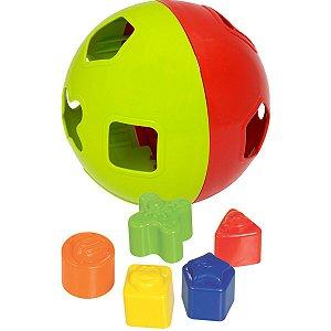 Brinquedo Educativo Bola Didatica C/blocos Merco Toys