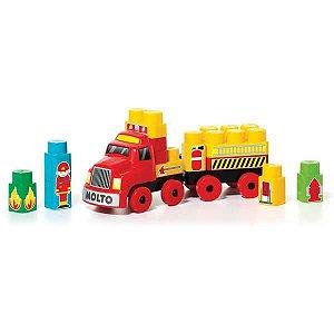 Brinquedo Educativo Bombeirinho Baby Land 25 Bloco Cardoso Toys