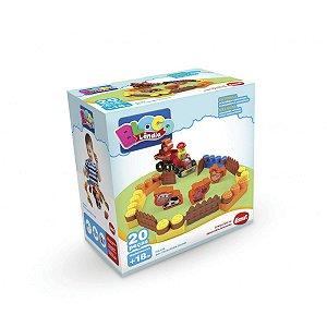 Brinquedo Educativo Box Fazendinha 20Pecas Dismat