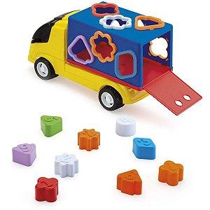 Brinquedo Educativo Caminhão Com Formas Monte Libano