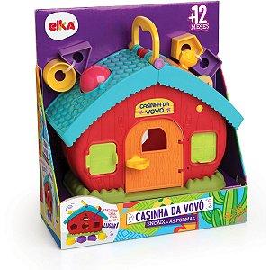 Brinquedo Educativo Casinha Da Vovo Encaixe Formas Elka