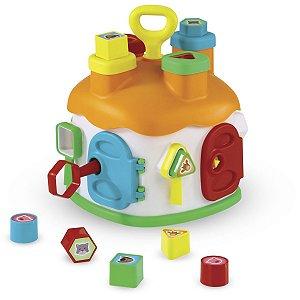 Brinquedo Educativo Casinha Educativa C/blocos Homeplay