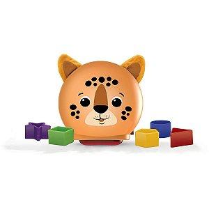 Brinquedo Educativo Encaixe Formas Oncinha Pintada Elka