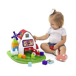Brinquedo Educativo Fazendinha C/ Blocos Tateti