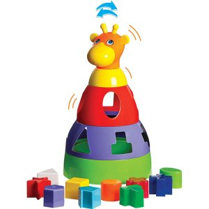 Brinquedo Educativo Girafa Didatica C/blocos Merco Toys