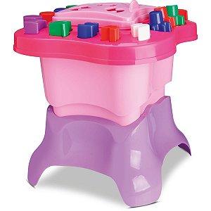 Brinquedo Educativo Mesinha De Atividades Menina Cardoso Toys