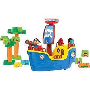Brinquedo Educativo Navio Pirata Baby Land C/30Blo Cardoso Toys