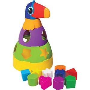 Brinquedo Educativo Tucano Didático C/blocos Merco Toys