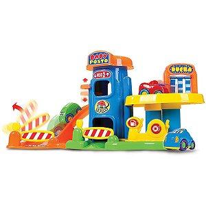 Brinquedo Para Bebê Baby Posto 1Posto/4Carrinhos Big Star