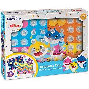 Brinquedo Para Bebê Baby Shark Encaixe Cor Elka