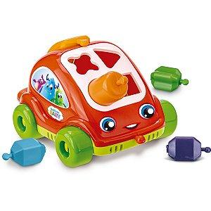 Brinquedo Para Bebê Carrinho Encaixe As Formas Gulliver
