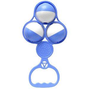 Brinquedo Para Bebê Chocalho Bolas Azuis Solapa Pais E Filhos