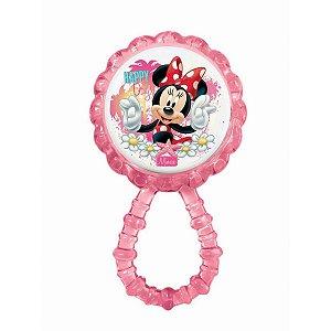 Brinquedo Para Bebê Chocalho Mordedor Minnie Baby Babygo