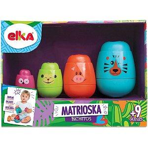 Brinquedo Para Bebê Matrioska Bichitos Elka