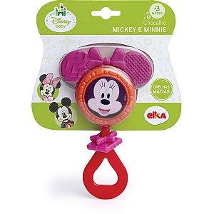 Brinquedo Para Bebê Minnie Chocalho Elka