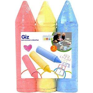 Brinquedo Para Colorir Giz Escrever E Desenhar C/03 Batiki