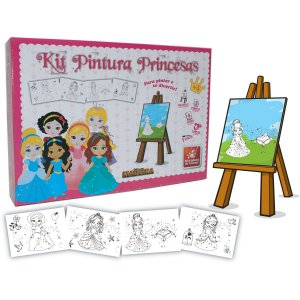 Brinquedo Para Colorir Princesas Baby C/04 Telas Brinc. De Crianca