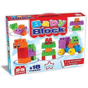Brinquedo Para Montar Baby Block 25 Pecas Encaixe Big Star