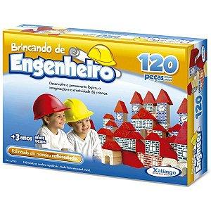 Brinquedo Para Montar Brincando De Engenheiro 120Pc Xalingo