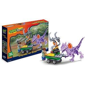 Brinquedo Para Montar Cacada Ao Dino 83 Pcs Xalingo