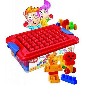 Brinquedo Para Montar Caixa Da Alegria C/28 Pecas Dismat