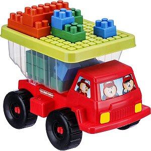 Brinquedo Para Montar Caminhão Basculante C/18Pcs Gulliver