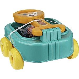 Brinquedo Para Montar Carrinho De Puxar Urso C/bloco Gulliver
