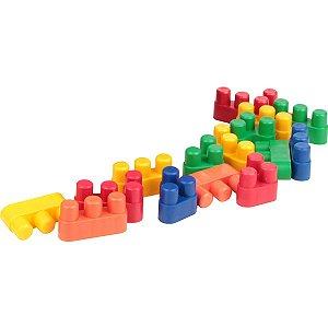 Brinquedo Para Montar Conectando Formas 150Pcs Carlu