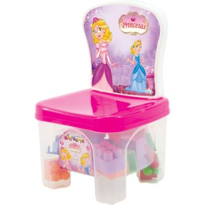 Brinquedo Para Montar Kidverte Princesas C/28 Blocos Big Star