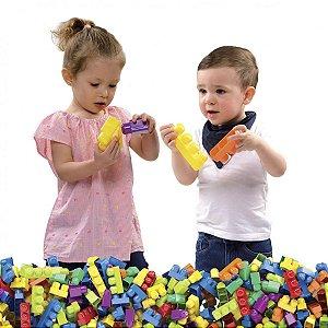 Brinquedo Para Montar Mais Blocos 3 130Pecas Dismat