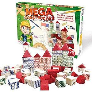 Brinquedo Para Montar Mega Construcoes 120Pecas Pais E Filhos
