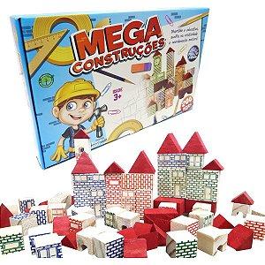 Brinquedo Para Montar Mega Construcoes 200 Pecas Pais E Filhos