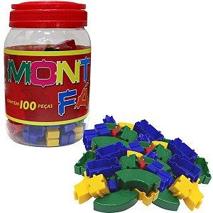 Brinquedo Para Montar Monta Facil 100 Pecas Pais E Filhos