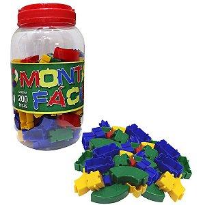 Brinquedo Para Montar Monta Facil 200 Pecas Pais E Filhos