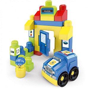 Brinquedo Para Montar Policia Da Blocolandia Dismat