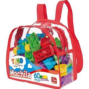 Brinquedo Para Montar Tand 60 Pecas Mochila Toyster