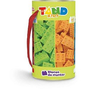 Brinquedo Para Montar Tand Kids 60 Pecas Tubo Toyster