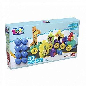 Brinquedo Para Montar Trem Puxa Zoo 33 Pcs. Dismat