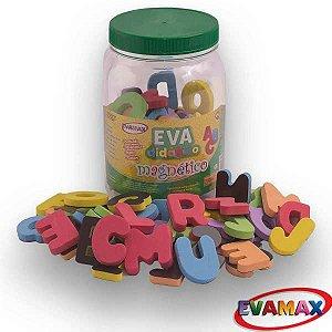 Brinquedo Pedagógico Eva Abc+Vogais 5X3Cm 93Pcs Magneti Evamax