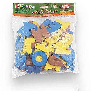 Brinquedo Pedagógico Eva Abc+Vogais Gd 5Mm 5Cm. 93Pcs Evamax Industria E C