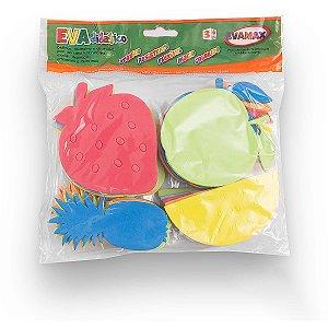 Brinquedo Pedagógico Eva Frutas 10Cm 5Mm 20 Pecas Evamax