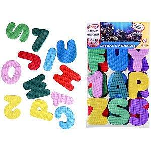 Brinquedo Pedagógico Eva Letras E Numeros 36Pcs Evamax